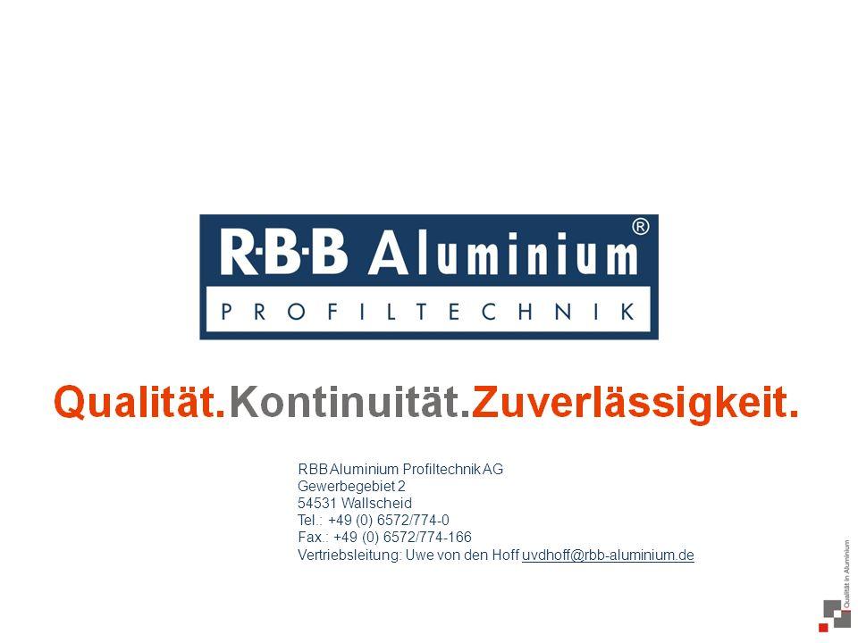 RBB Aluminium Profiltechnik AG Gewerbegebiet 2