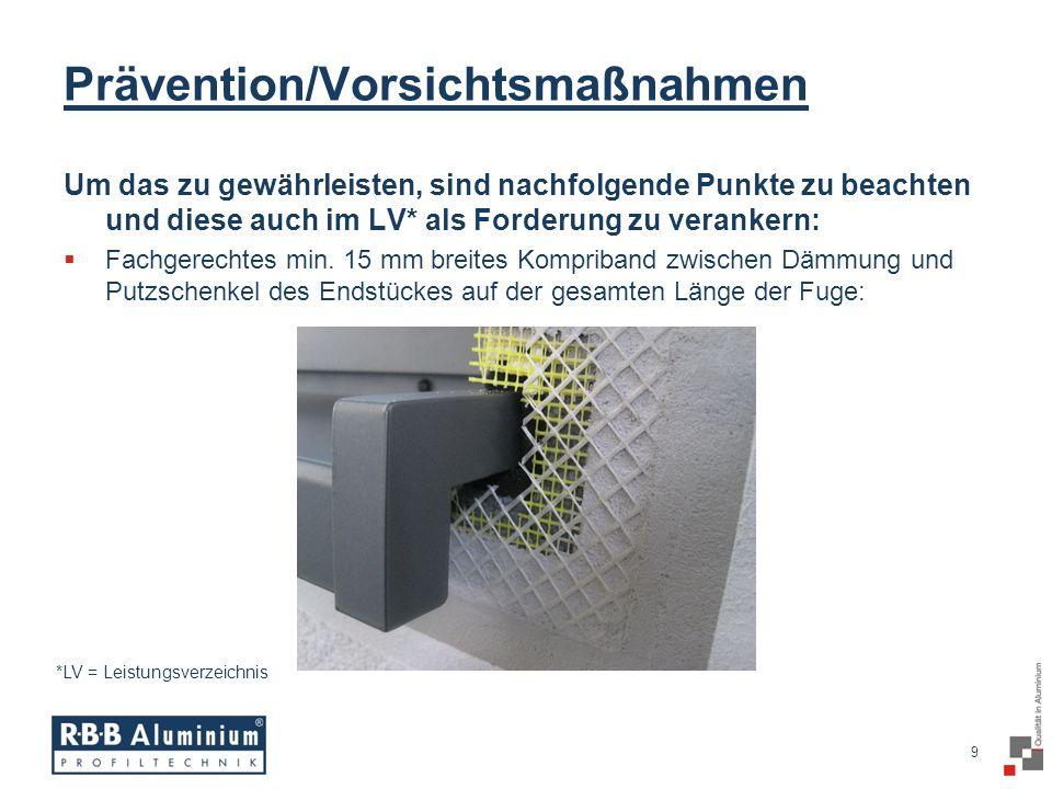 Prävention/Vorsichtsmaßnahmen