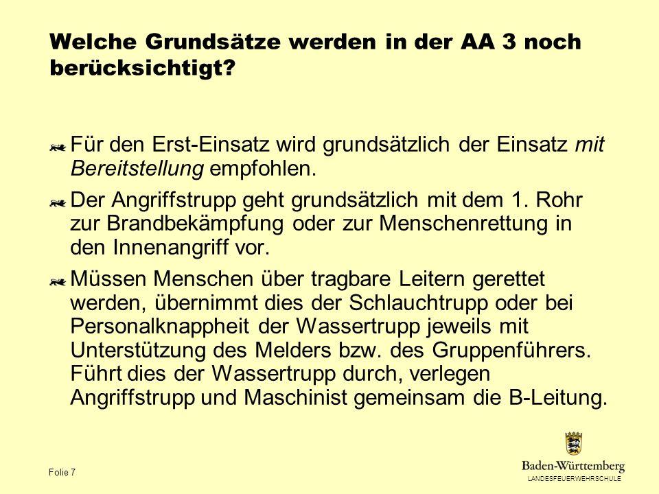 Welche Grundsätze werden in der AA 3 noch berücksichtigt