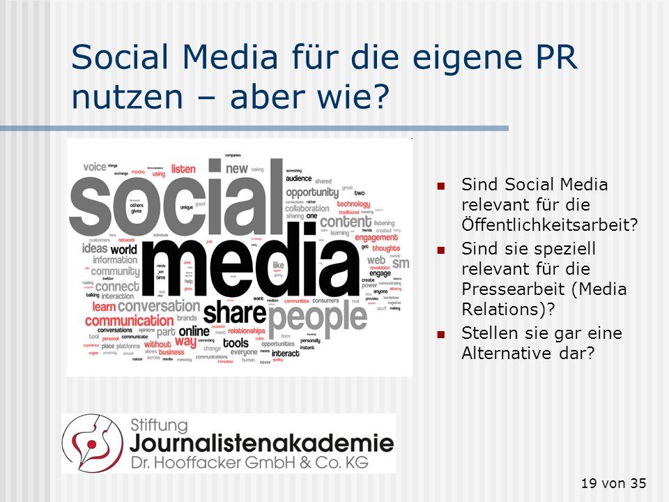 Social Media für die eigene PR nutzen – aber wie