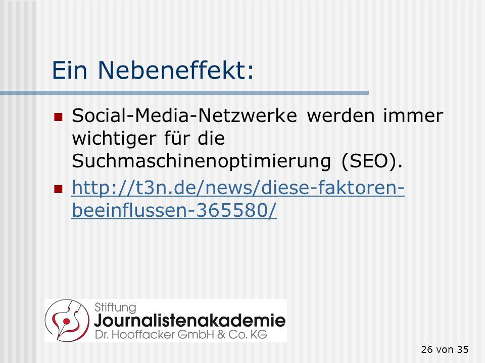 Ein Nebeneffekt: Social-Media-Netzwerke werden immer wichtiger für die Suchmaschinenoptimierung (SEO).