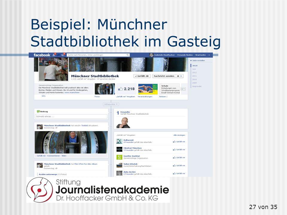 Beispiel: Münchner Stadtbibliothek im Gasteig