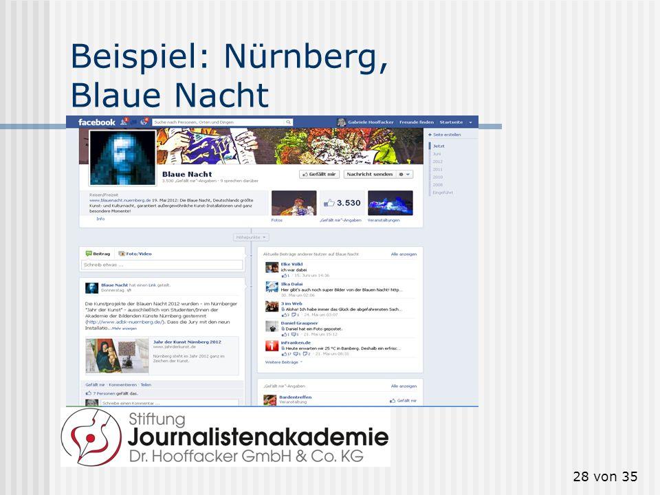 Beispiel: Nürnberg, Blaue Nacht