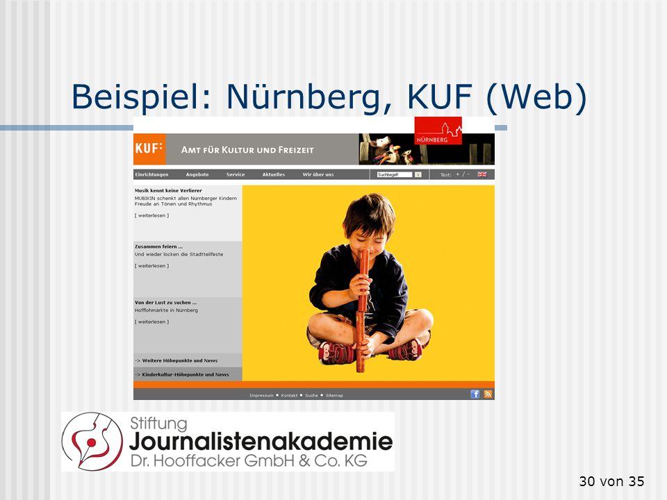 Beispiel: Nürnberg, KUF (Web)