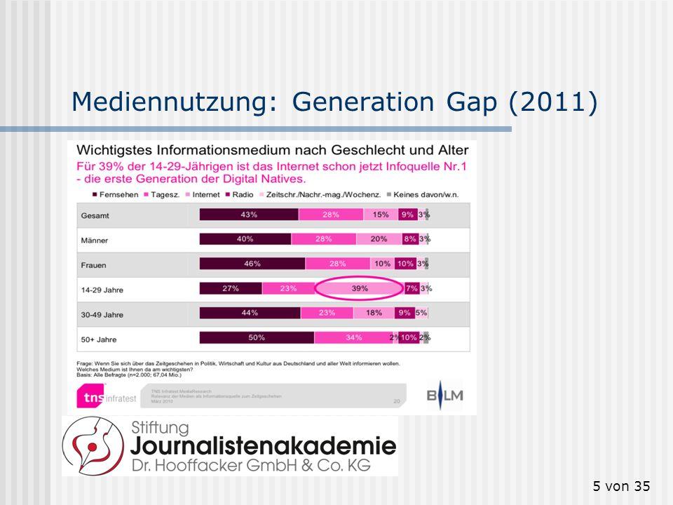 Mediennutzung: Generation Gap (2011)