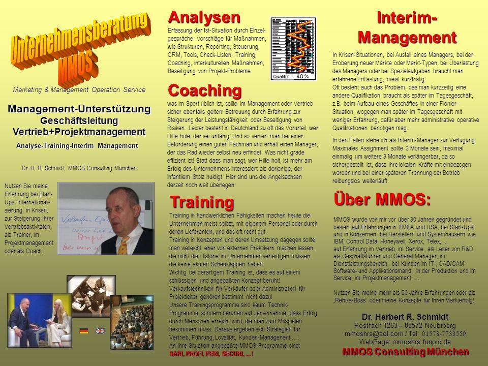 Management-Unterstützung Geschäftsleitung MMOS Consulting München