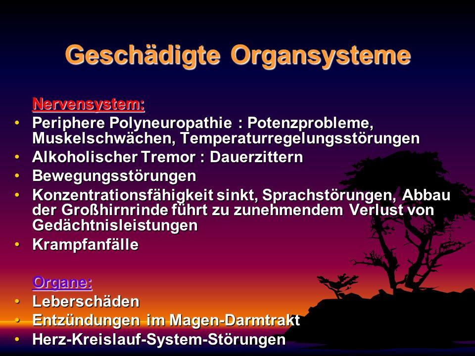 Geschädigte Organsysteme
