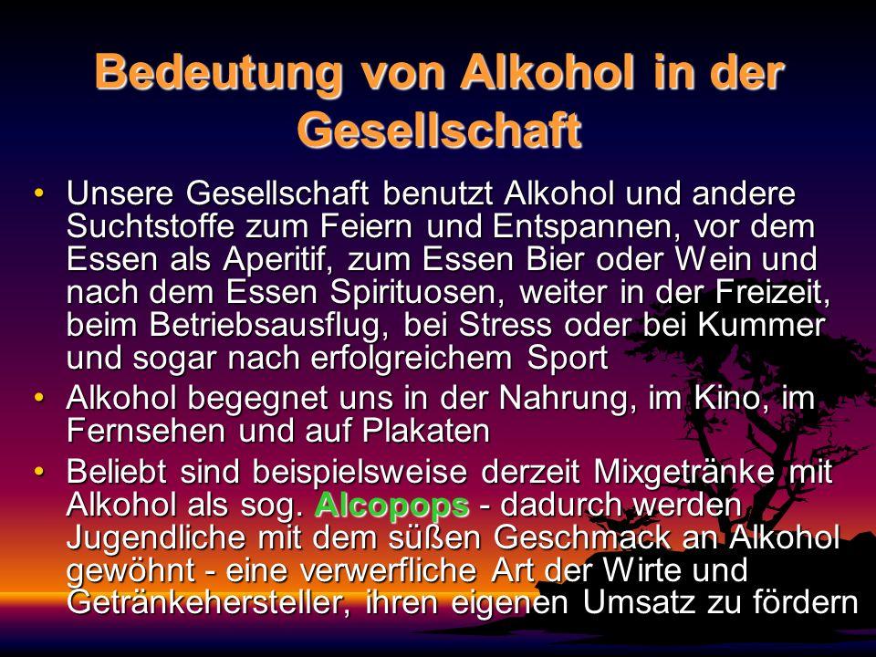 Bedeutung von Alkohol in der Gesellschaft