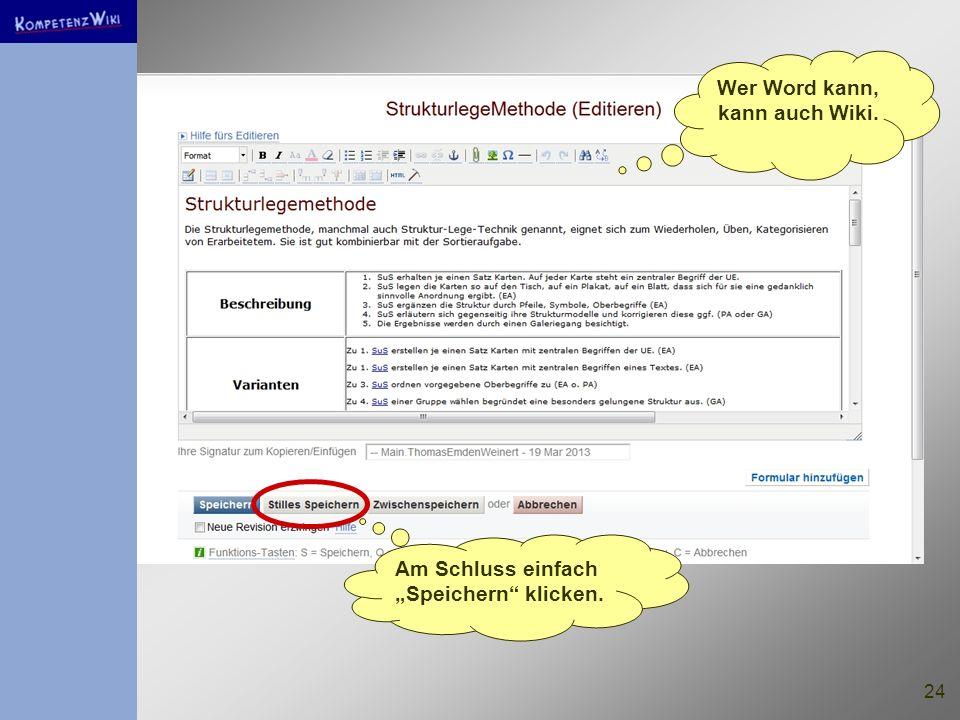 Wer Word kann, kann auch Wiki.