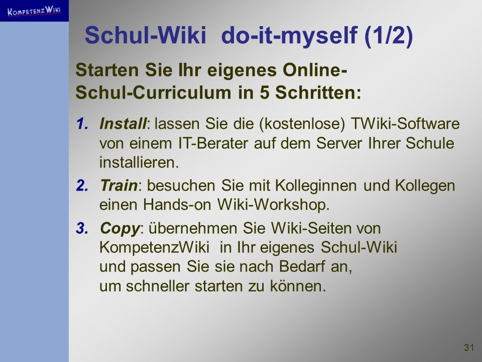 Schul-Wiki do-it-myself (1/2)