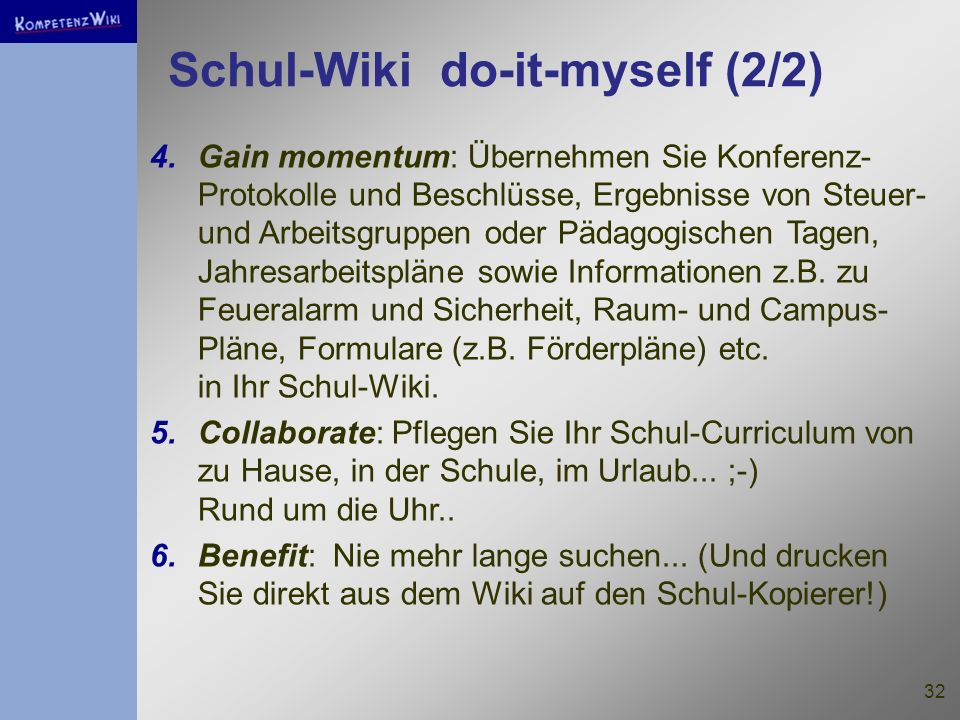 Schul-Wiki do-it-myself (2/2)
