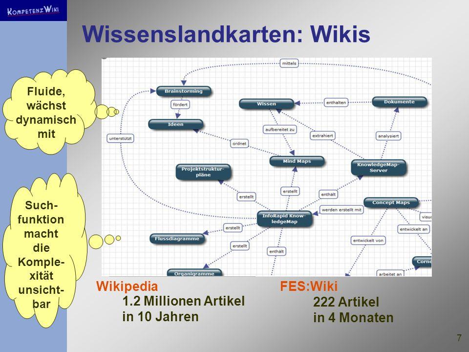 Wissenslandkarten: Wikis