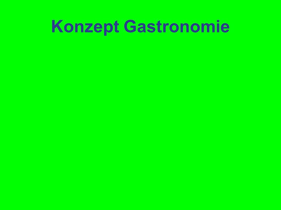 Konzept Gastronomie