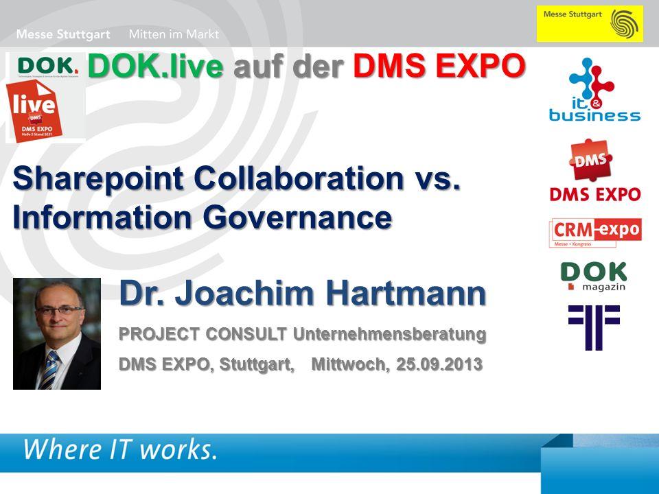 Dr. Joachim Hartmann DOK.live auf der DMS EXPO