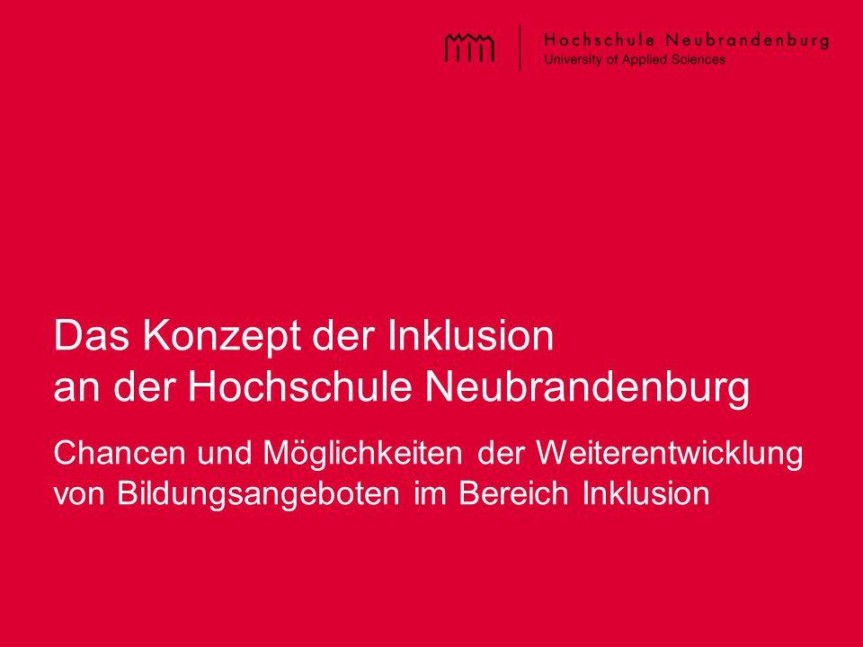 Das Konzept der Inklusion an der Hochschule Neubrandenburg