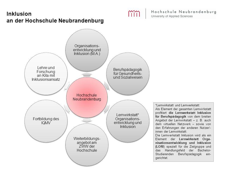 Inklusion an der Hochschule Neubrandenburg