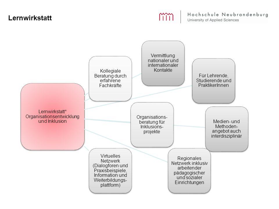 Lernwirkstatt Lernwirkstatt* Organisationsentwicklung und Inklusion