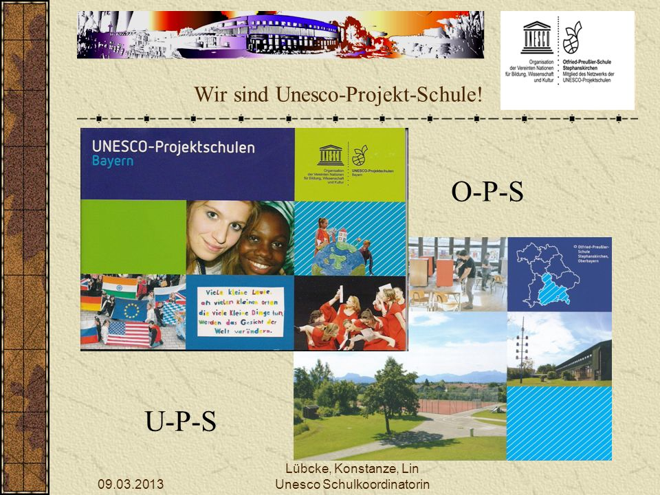 Wir sind Unesco-Projekt-Schule!