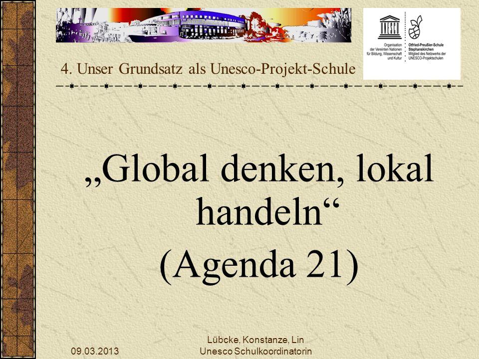 4. Unser Grundsatz als Unesco-Projekt-Schule