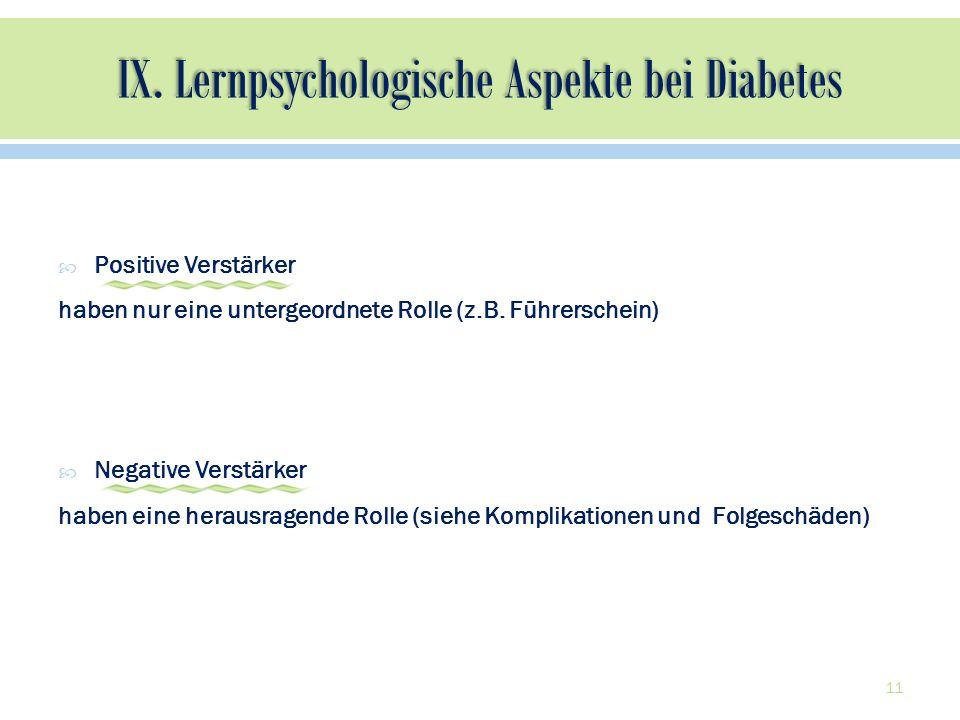 IX. Lernpsychologische Aspekte bei Diabetes