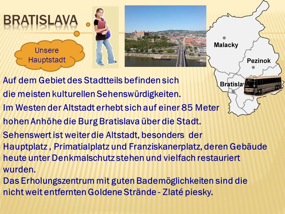 Bratislava Unsere Hauptstadt.