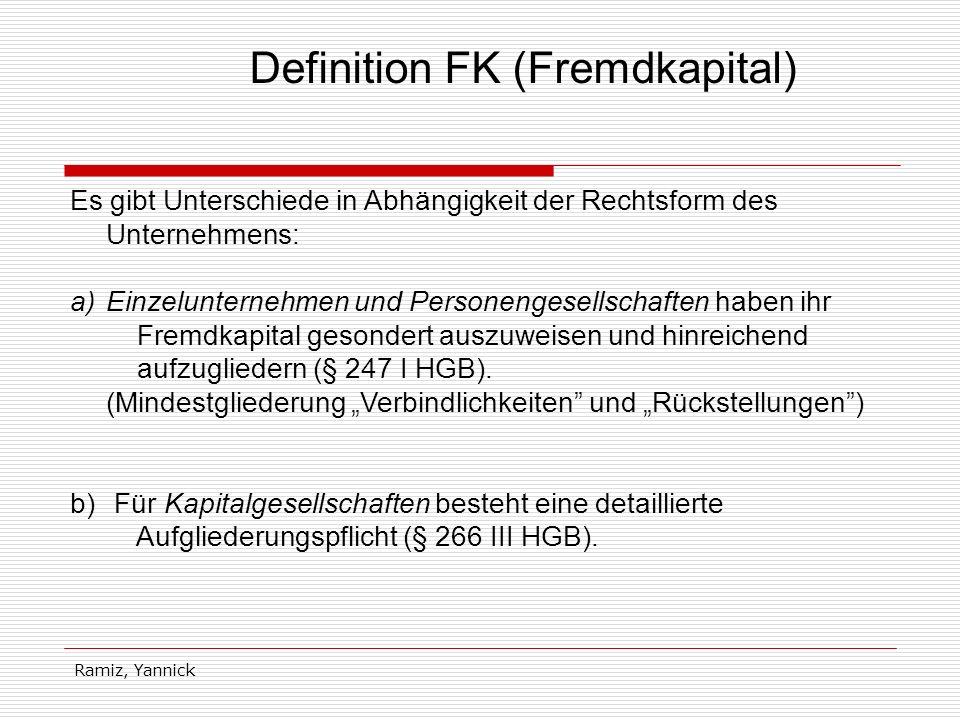 Definition FK (Fremdkapital)