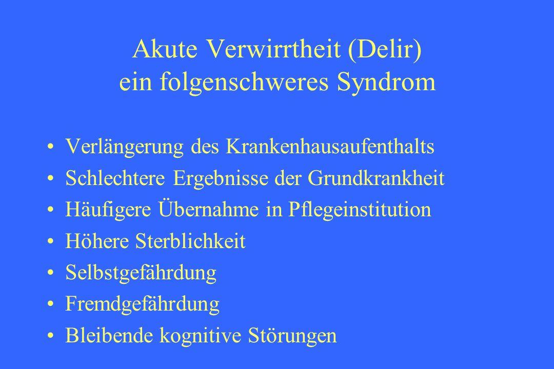 Akute Verwirrtheit (Delir) ein folgenschweres Syndrom