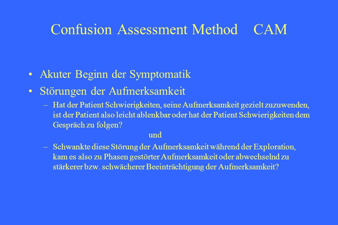 Confusion Assessment Method CAM