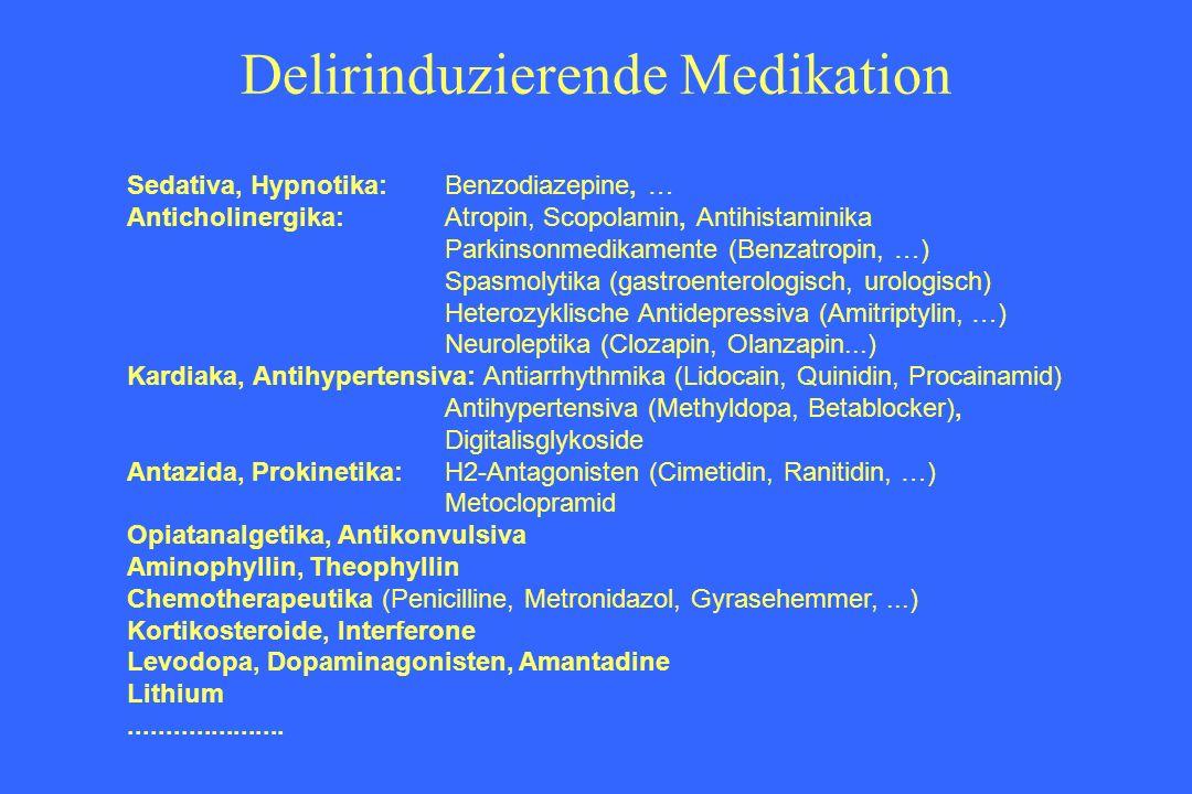 Delirinduzierende Medikation
