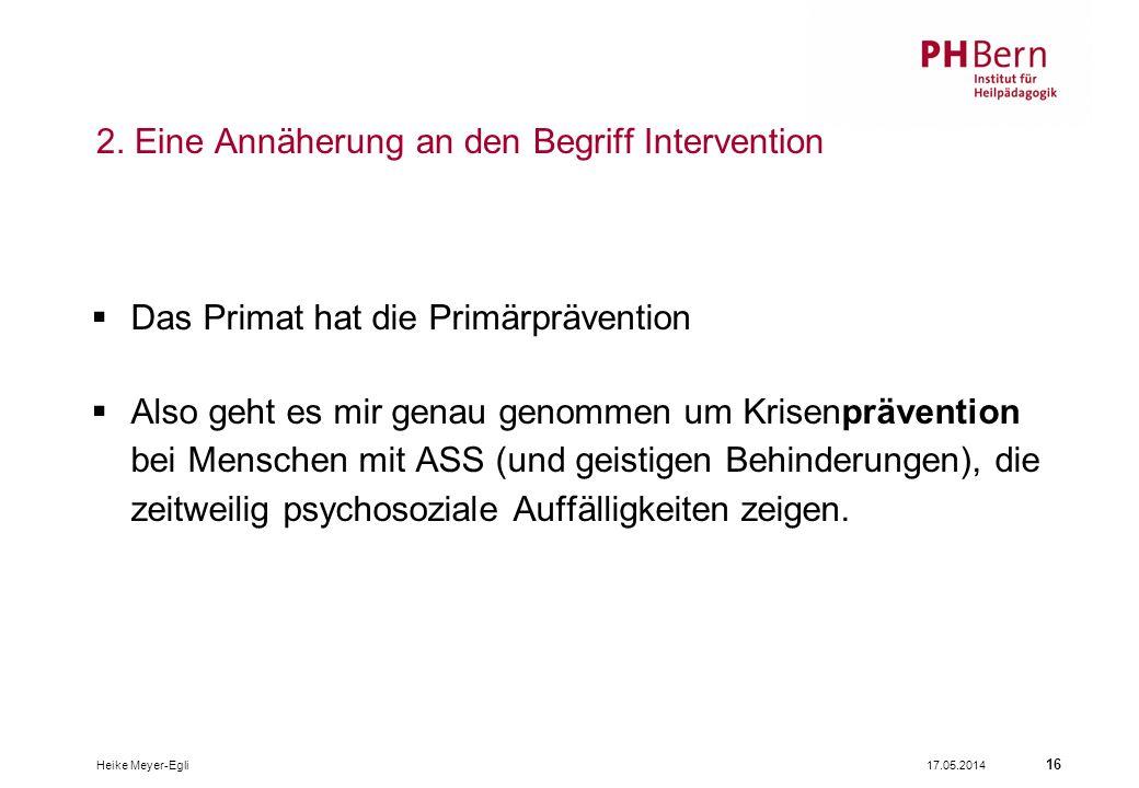 2. Eine Annäherung an den Begriff Intervention