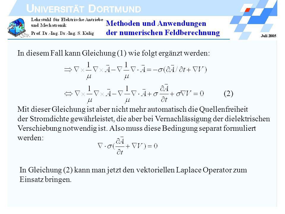 In diesem Fall kann Gleichung (1) wie folgt ergänzt werden: