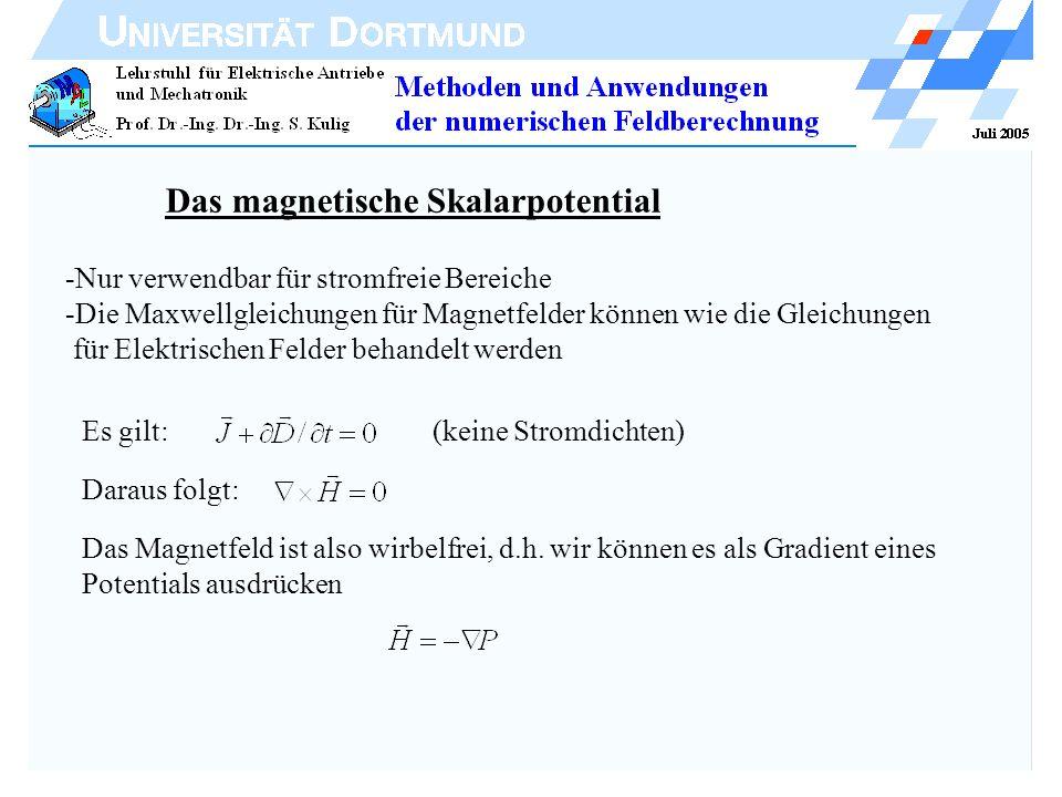 Das magnetische Skalarpotential