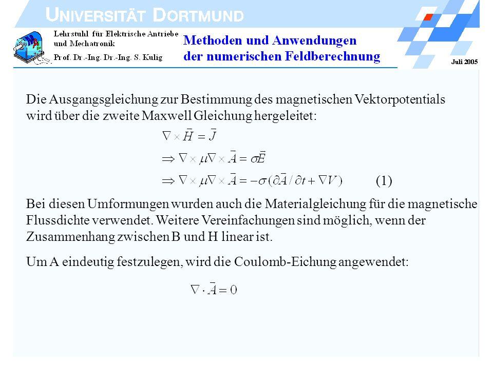 Die Ausgangsgleichung zur Bestimmung des magnetischen Vektorpotentials