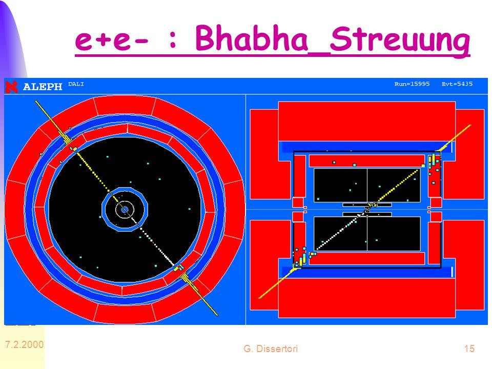 e+e- : Bhabha_Streuung