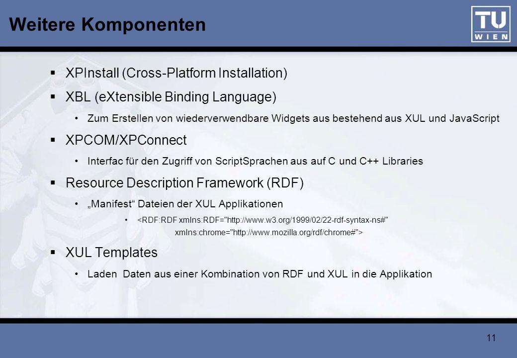Weitere Komponenten XPInstall (Cross-Platform Installation)