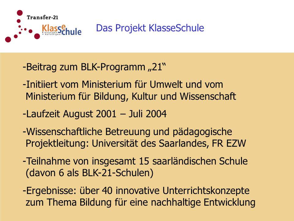 Das Projekt KlasseSchule