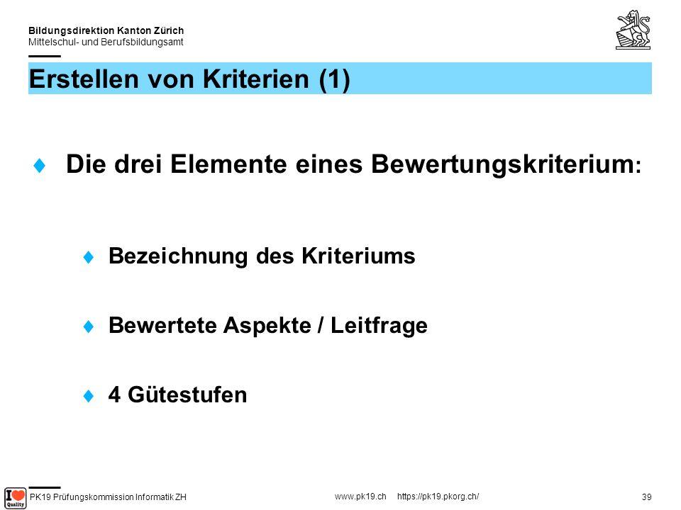 Erstellen von Kriterien (1)