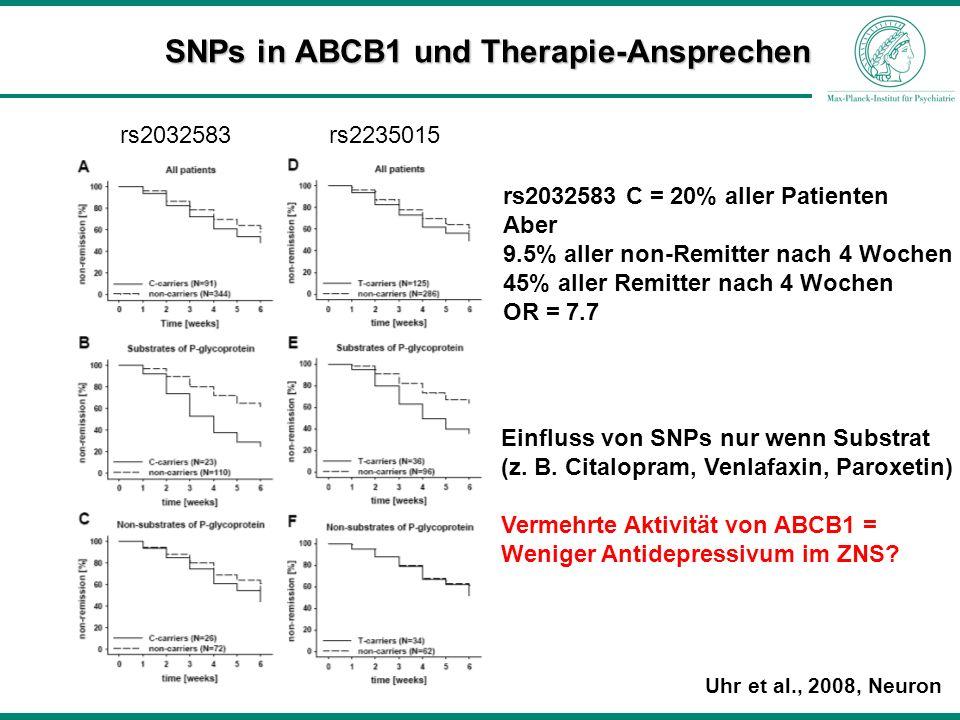 SNPs in ABCB1 und Therapie-Ansprechen