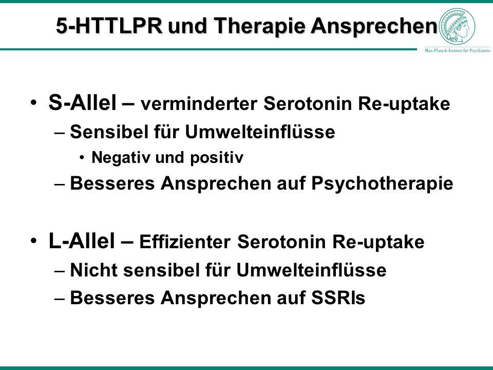 5-HTTLPR und Therapie Ansprechen