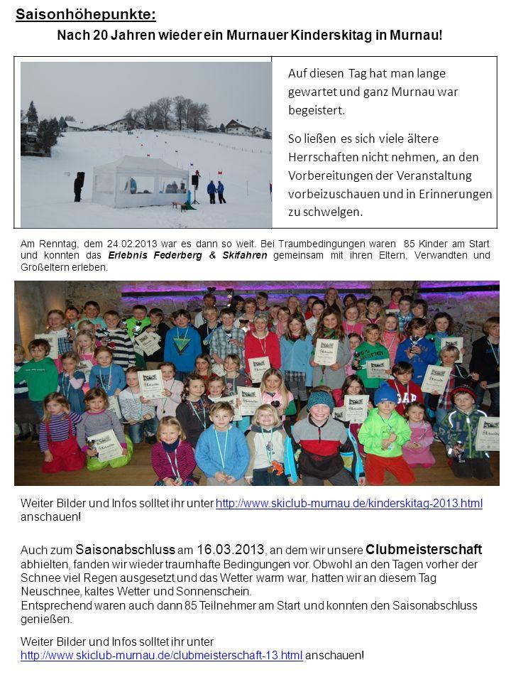 Nach 20 Jahren wieder ein Murnauer Kinderskitag in Murnau!
