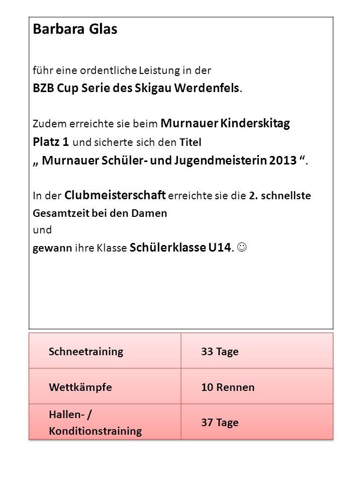 Barbara Glas BZB Cup Serie des Skigau Werdenfels.