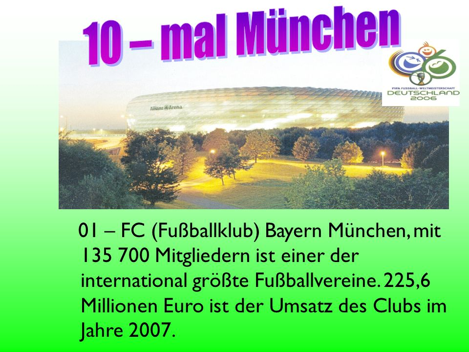 10 – mal München