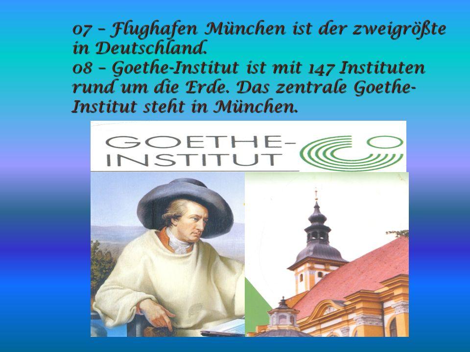 07 – Flughafen München ist der zweigrößte in Deutschland