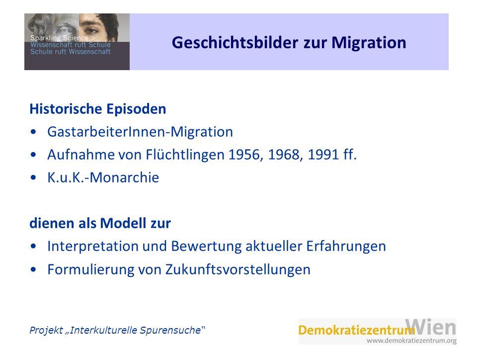 Geschichtsbilder zur Migration