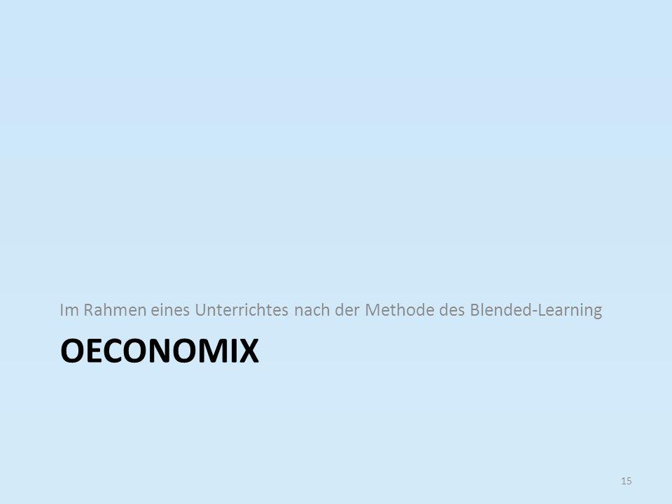 Im Rahmen eines Unterrichtes nach der Methode des Blended-Learning