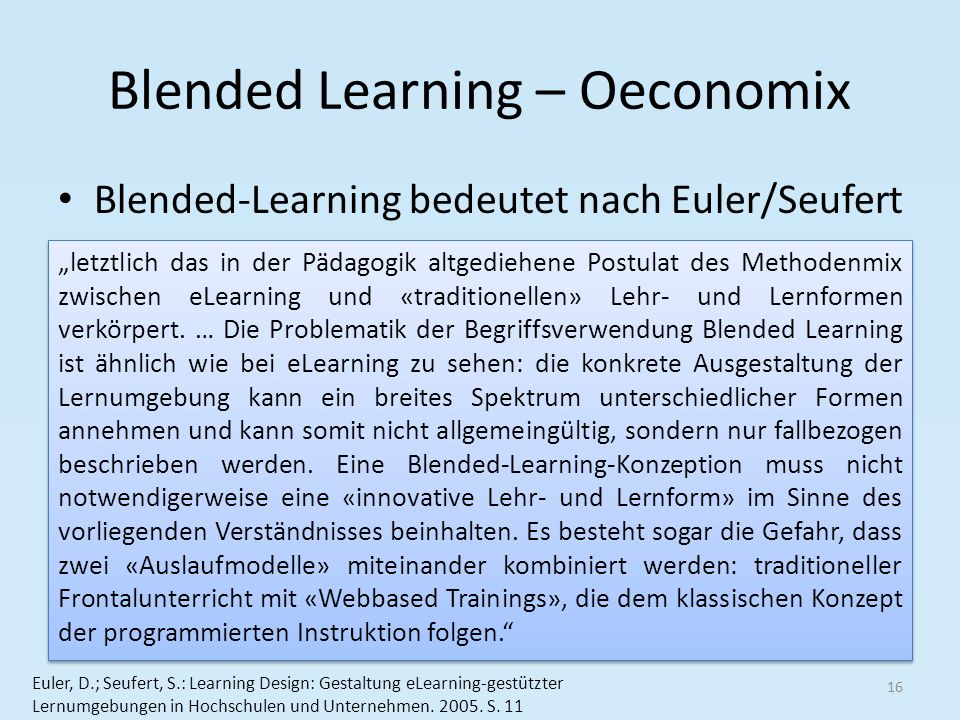 Blended Learning – Oeconomix