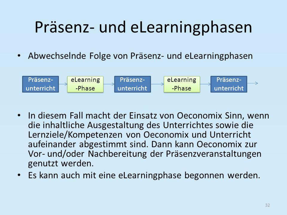 Präsenz- und eLearningphasen