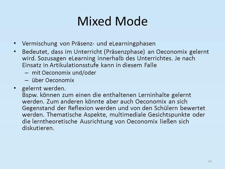 Mixed Mode Vermischung von Präsenz- und eLearningphasen
