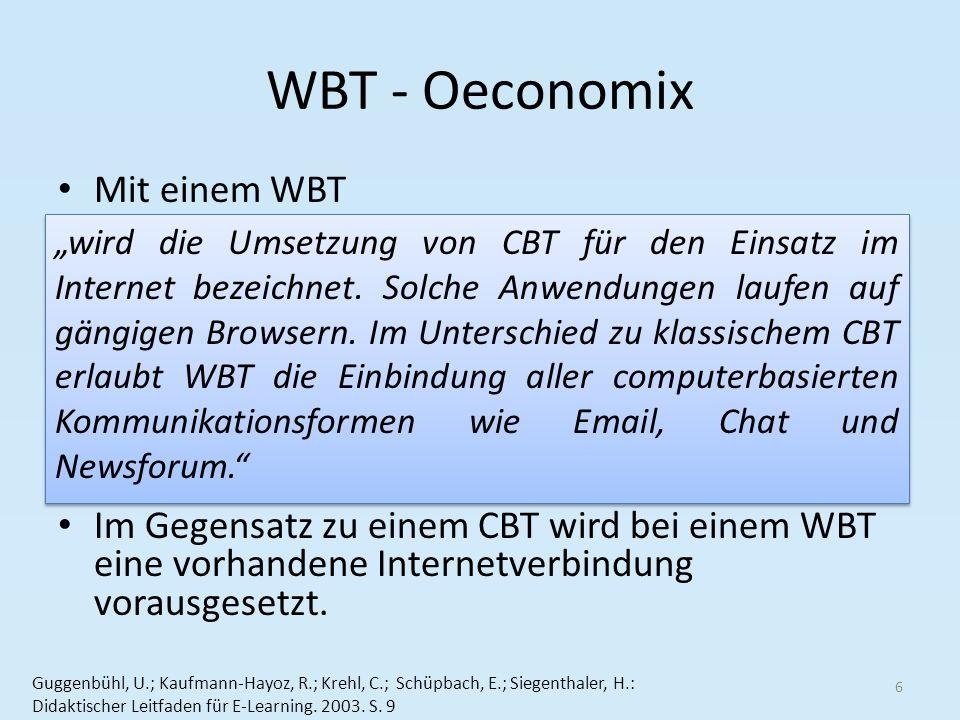 WBT - Oeconomix Mit einem WBT