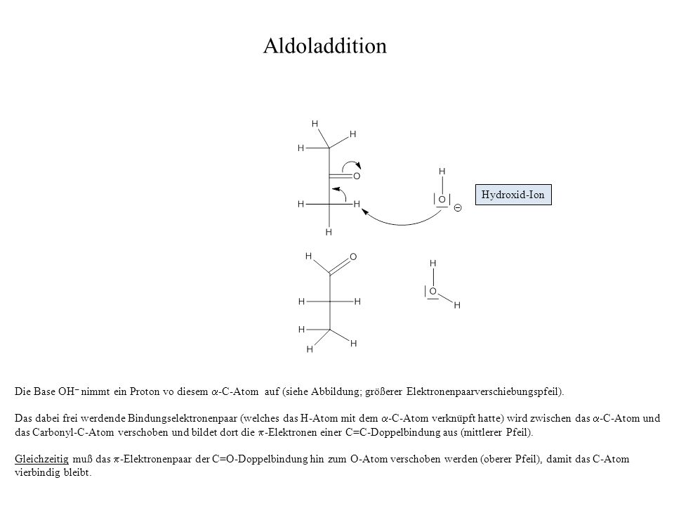 Aldoladdition Hydroxid-Ion